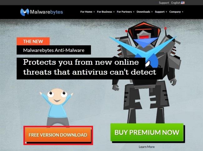 malwarebytes anti-malwareのトップページ